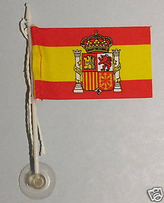 Spain, España MiniPole Car / Window Flag NEW