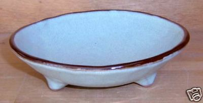 Essex Collection Gloucester MA Blue Brown Footed Bowl