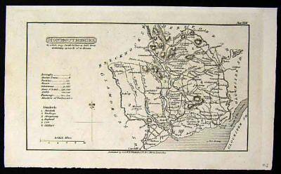 1824 Whittaker Map - Monmouthshire Monmouth England UK