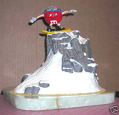 Ron Lee Red M&m Snow Boarding Figurine Le Mint