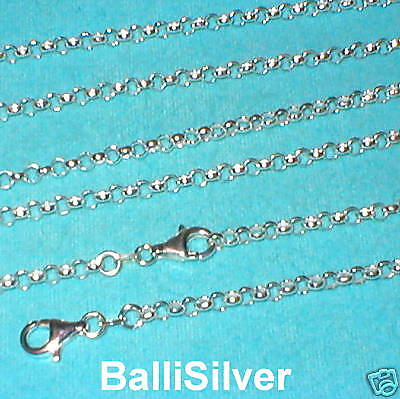 3 St. Silver 3.8mm ROUND ROLO Chain Necklaces Lot 22""