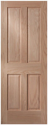 4 Panel Craftsman Raised Panel Red Oak Stain Grade Solid Core Interior Doors