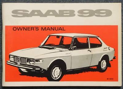 SAAB 99 Car Owner's Manual Handbook Aug 1971 # 788733