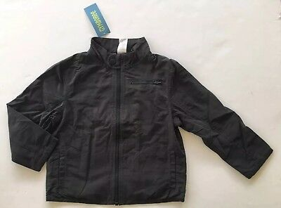 159e31a8d97a5 NWT Gymboree BMX Racer 3-4 Charcoal Gray Jersey Lined Motorcycle Jacket XS  3T-