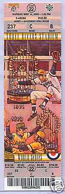 Pittsburgh Pirates Milwaukee Brewers 5/14/00 Ful Ticket