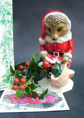 Wade Santa Hedgehog Figurine From the Forest Deep Series New Boxed & Certificate