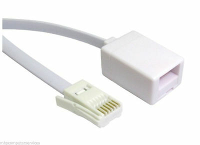 3m (10ft) BT Telephone Plug Extension Cable/Lead Phone