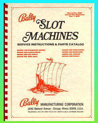 Baly Slot Machine Service Manual Danish Models
