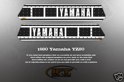 Vintage Like Nos 1980 Yz80 Tank Graphics Decals