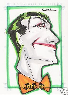 BATMAN ARCHIVES SKETCH CARD OF THE JOKER BY UKO SMITH
