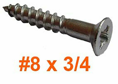 """8g x 3/4"""" Stainless Countersunk Wood Screws - 4mm x 20mm Pozi Countersunk x100"""