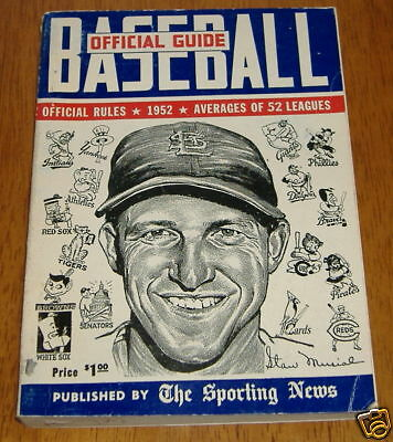 the sporting news baseball guide 1952   stan musial