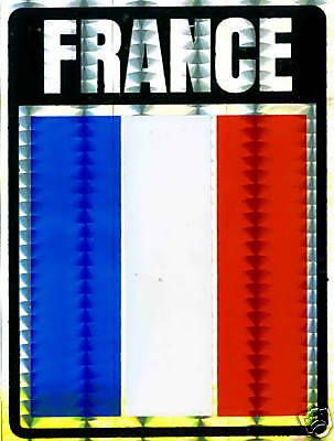 France, République française Large Flag Stickers LOTNEW