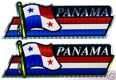 República de Panama Flag Small Bumper Sticker LOT