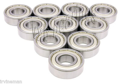 10 Ball Bearings 6000-ZZ Gas Scooters Bearing OD= 26 mm