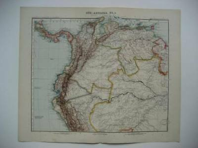 Antique Stieler South America Sheet 1 Map 1905