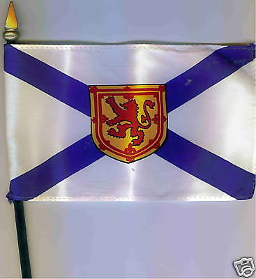"Canadian Provinces: Nova Scotia 4""x6"" Flag on Pole NEW"