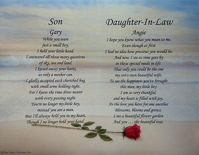 Son & Daughter-In-Law Personalized Poems Christmas Gift