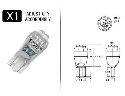 WHITE 4 point 194 style LED replacement bulb QTY:1