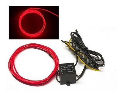 RED 5 foot 12v Glow Wire for gauges