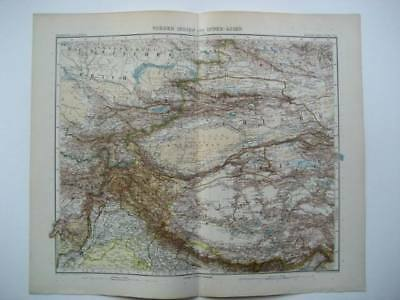 Antique Stieler Inner Asia Map 1905