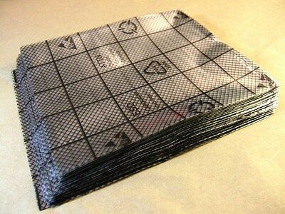 Lot of 100 Conductive Anti-Static Grid 2-mil  seal-able polyethyle ESD BAG LDPE