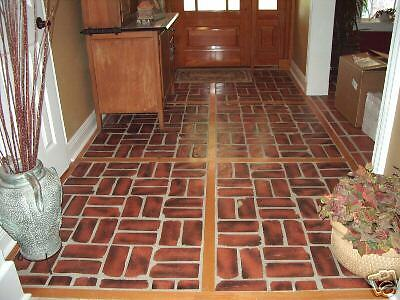 10 ANTIQUE BRICK MOLDS MAKE 100s OF BRICK VENEER WALLS, FLOORS, MORE FOR PENNIES