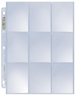 Ultra Pro Platinum 9 Nine Pocket Pages 200 count