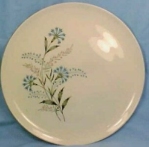 Vintage BLUE & PINK FLOWERS DINNER PLATE Taylor Smith