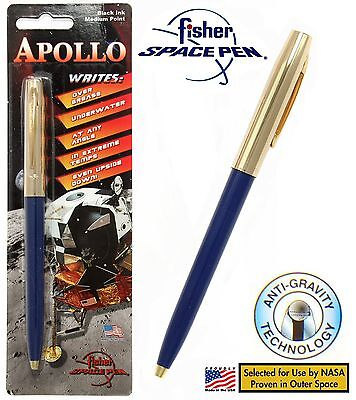 Fisher Space Pen #S251G-Blue / Apollo Series Pen in Blue & Gold
