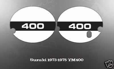 Suzuki 1973-1975 Tm400 Side Cover Number Plate Decal