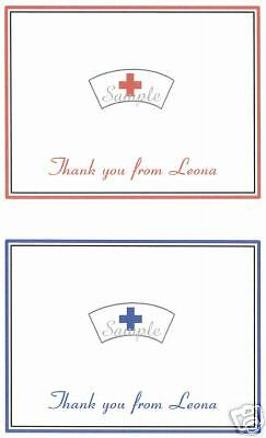 12 Personalized Thank You/Note Card/Nursing/Nurse/Hat