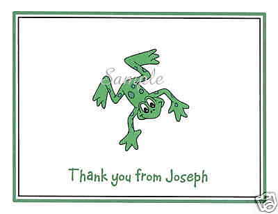 12 Personalized Thank You / Note Cards / Frog