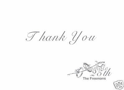 12 custom thank you note card wedding anniversary 25th 8 50