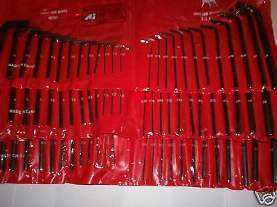 75pc HEX KEY ALLEN WRENCH SET LONG & SHORT ARM SAE&MM