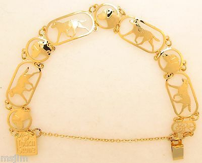 Chesapeake Bay Retriever Jewelry Gold Bracelet by Touchstone