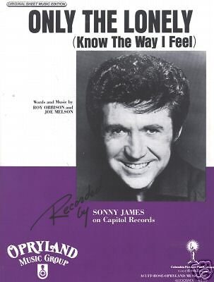 Sonny James Only The Lonely Photo Sheet Music