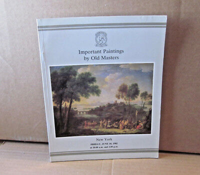 OLD MASTERS Important Paintings collection 1982 catalog Christie's Auction book