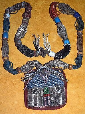 Antique Yoruba Glass Bead Shaman Diviner's Protection Necklace Nigeria, Africa