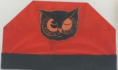 C 1940 Halloween Hat Flat Top Decoration Owl