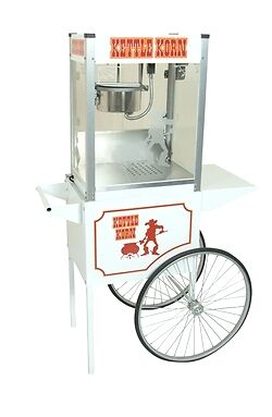Commercial Popcorn Machine Popper Maker & Cart Kettle Korn 6oz Paragon