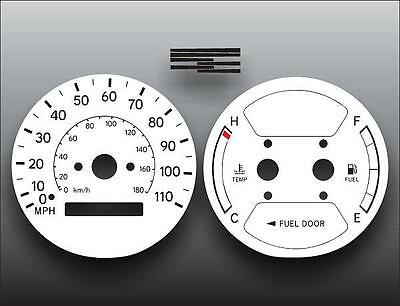 1998-2002 Geo Prism Corolla White Face Gauges 98-02