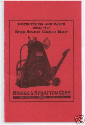 """Briggs & Stratton """"fh"""" Instruction & Parts Book (Red)"""