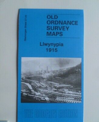 Old Ordnance Survey Maps Llwynypia Glamorgan 1915 Godfrey Edition New