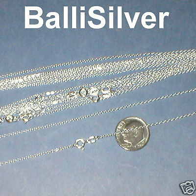 10 St Silver Italian Fine CABLE Chain NECKLACES Lot 18""