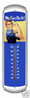 Rosie the Riveter classic WWII  pin up thermometer