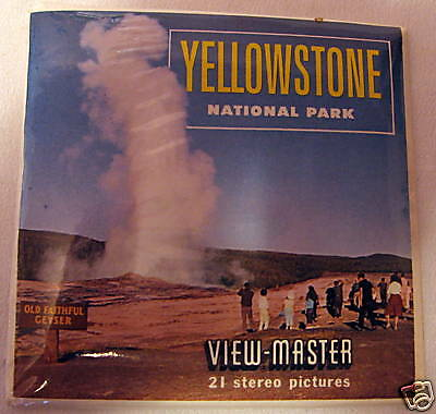"""VIEWMASTER """"YELLOWSTONE NATIONAL PARK"""" #A306 SEALED"""