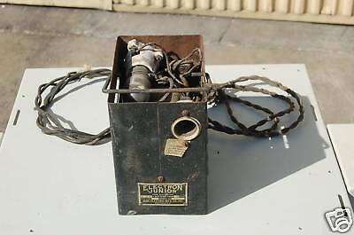 VINTAGE-ELECTRON JUNIOR-Tube BATTERY-CHARGER-recharge Car radio batteries 1920s