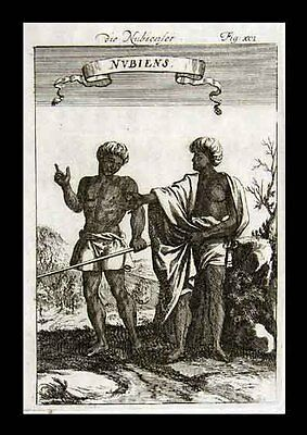 1685 Mallet Print - Nubians Nubia Africa Ethnic African