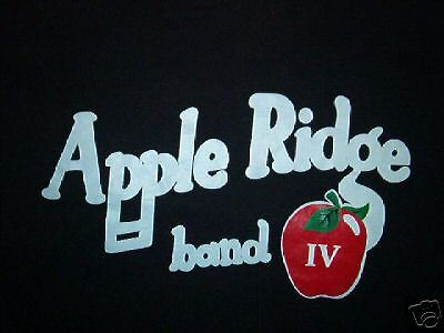 vintage APPLE RIDGE BAND IV SHIRT concert tour 80's LG